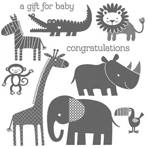 Zoo Babies Stamp Set