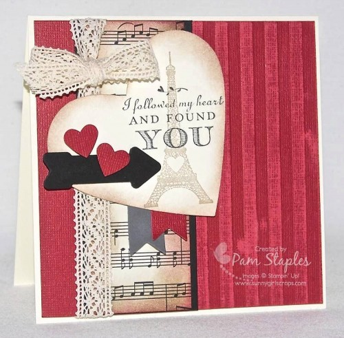 Design Team Card SKetch submission by Pam Staples featuring the Follow My Heart Stamp Set