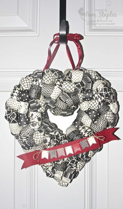 Heart Wreath featuring the Banner Blast Stamp Set from Sale-A-Bration
