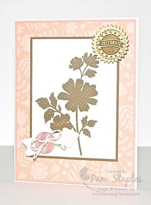 Paper Craft Crew Card Sketch 81 design team submission by Pam Staples
