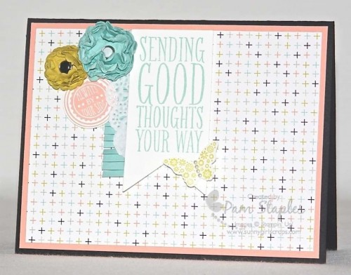 Perfect Pennants Sending Good Thoughts card.