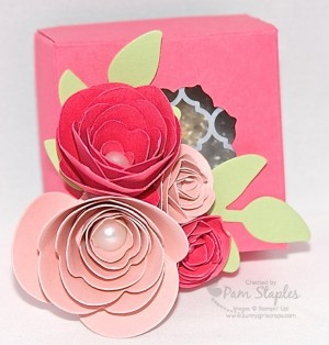Spiral Flower Rose Box created by Pam Staples, Sunny Girl Scraps.