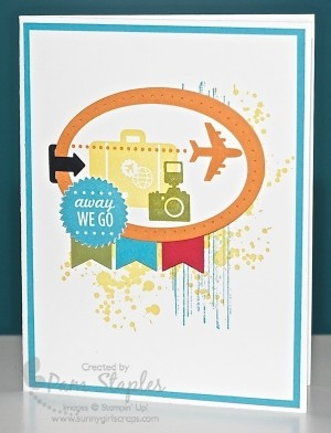 Remarkables Pinworthy Blog Tour featuring Summer Fun projects. Handmade Card created by Pam Staples, SunnyGirlScraps.com, featuring the Around the World Stamp Set