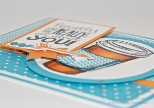 Paper Craft Crew Card Sketch 101 with the Perfect Blend Stamp Set featuring the use of dimension.