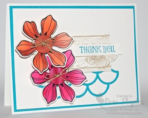 SUOC 102 featuring Favorite New Toys. Card created by Pam Staples, Sunny Girl Scraps and Independent Stampin' Up! Demonstrator.  #stampinup #blendabilities #sunnygirlscraps #pamstaples