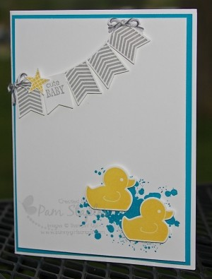 New Beginnings Baby Card by Pam Staples, SunnyGirlScraps