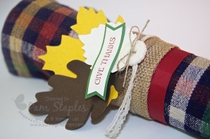 Give Thanks Napkin Ring Holder by Pam Staples. #Stampinup #sunnygirlscraps #remarkables