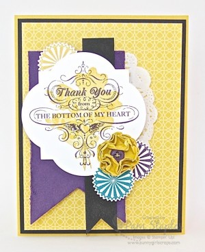 Handmade card created by Pam Staples for the SU Only Challenge blog featuring the From My Heart Stamp Set