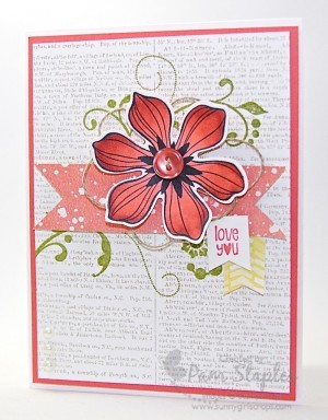 Beautiful Bunch Stamp Set and Paper Craft Crew Card Sketch 127 #stampinup #pamstaples #papercraftcrew