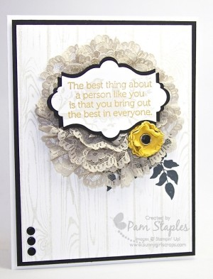 Handmade Card created for the Create with Connie and Mary Color Challenge 342 by Pam Staples featuring the Serene Silhouettes Stamp Set. #stampinup #pamstaples #serenesilhouettes #sunnygirlscraps #ccmc