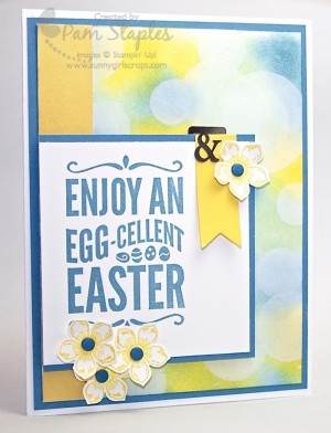 Handmade Stampin Up Easter Card created by Pam Staples, Sunny Girl Scraps. #stampinup #eastercard #pamstaples #sunnygirlscraps