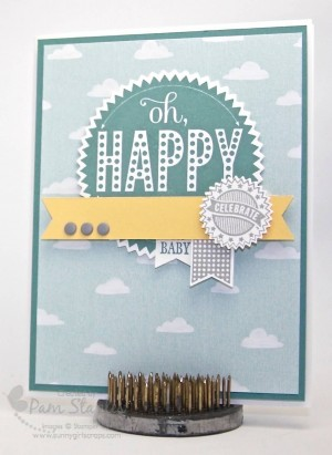 Handmade baby card by Pam Staples created for the Paper Craft Crew Card Sketch 140 using the Starburst Sayings Stamp Set. #stampinup #sunnygirlscraps #pamstaples