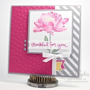 You've Got This Watercolor Peony created by Pam Staples for the Paper Craft Crew Card Sketch 148. #stampinup #watercolor #pamstaples #sunnygirlscraps