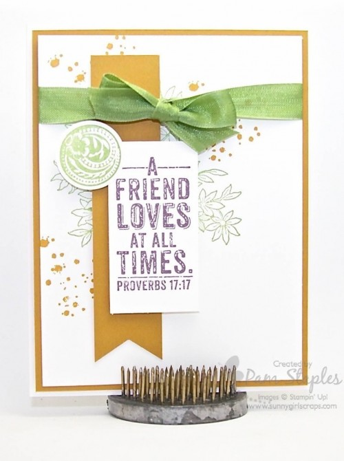Handmade card by Pam Staples, Paper Craft Crew Design Team Member, featuring the Awesomely Artistic Stamp Set.