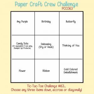 Paper Craft Crew Tic Tac Toe Challenge 163 #papercraftcrew #pamstaples #stampinup