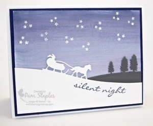 RemARKables Blog Tour Holiday Bundle. Handmade cards created by Pam Staples using Jingle All The Way and Sleigh Ride Edgelits. #stampinup #pamstaples #remarkables #sunnygirlscraps #holidaycard
