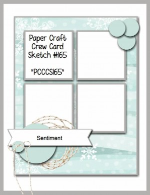 Paper craft Crew Card Sketch 165