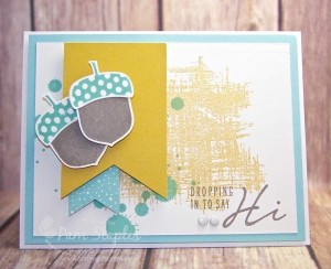Acorny Thank You card created by Pam Staples, Sunny Girl Scraps. #sunnygirlscraps #stampinup