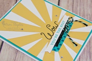 Sunburst Sayings Wow Card created by Pam Staples #sunburstsayings #stampinup #pamstaples #sunnygirlscraps