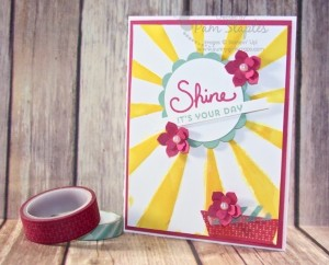 Sunburst Sayings Shine Card created by Pam Staples #sunburstsayings #stampinup #pamstaples #sunnygirlscraps