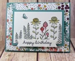 North Carolina Stampin' Up! Demos Sale-A-Bration Blog Hop submission by Pam Staples featuring Going Global #floweringfields  #imbringingbirthdaysback #saleabration #bloghop