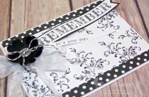 Timeless Textures Black & White card designed by Pam Staples for the Can You Case It? Challenge Blog. #cyci #pamstaples #stampinup #timelesstextures