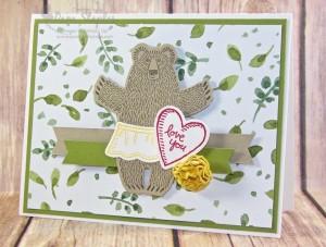 Sending Bear Hugs for Paper Craft Crew Challenge 178 by Design Team Member Pam Staples. #pamstaples #stampinup #bearhugs