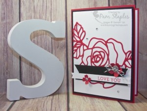 PCCCS177- Card Designed by Pam Staples for the Paper Craft Crew. #stampinup #pamstaples #rosegarden