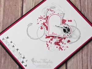 So Sweet Valentine design team card by Pam Staples for SUOC140.  #stampinup #pamstaples #suoc #valentine