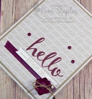 Sale-A-Bration Hello Birthday created by Pam Staples, Design Team member of Can You Case It? #cyci #pamstaples
