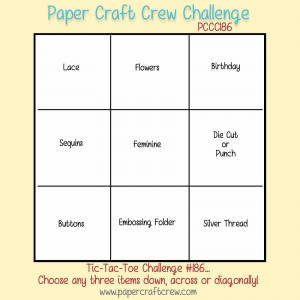 Paper Craft Crew Tic Tac Toe Challenge 186. #tictactoe #pamstaples #papercraftcrew