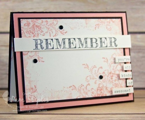 Stampin' Up! Retiring Product Spotlight with Words of Truth handmade by Pam Staples for CYCI 117. #pamstaples #stampinup #retiringproducts #wordsoftruth