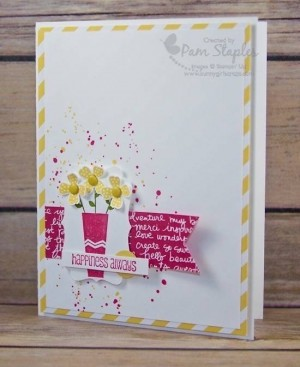 PCCC192-Pictogram-Punches-retiring-product.  Handmade card by Pam Staples.