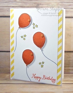 Balloon Celebration card created by Pam Staples for Can You Case It Sketch Challenge 116. #stampinup #pamstaples #sunnygirlscraps #cyci