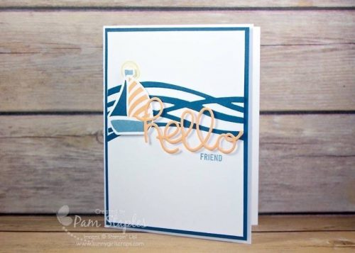 Can You Case It? Sketch Challenge 122 design team card created by Pam Staples featuring the Sailing Swirly Bird from the Swirly Bird Stamp Set. #stampinup #sneakpeek #swirlybird #pamstaples #sunnygirlscraps