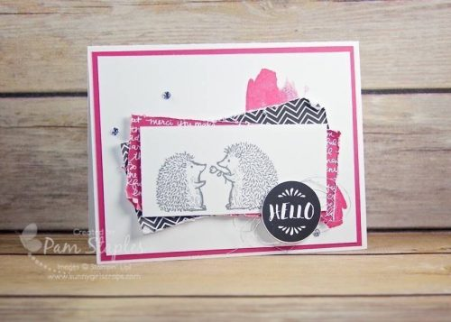Love You Lots Paper Craft Crew Design Team Card by Pam Staples for the Paper Craft Crew Sketch Challenge #197. #lotsoflove #stampinup #pamstaples