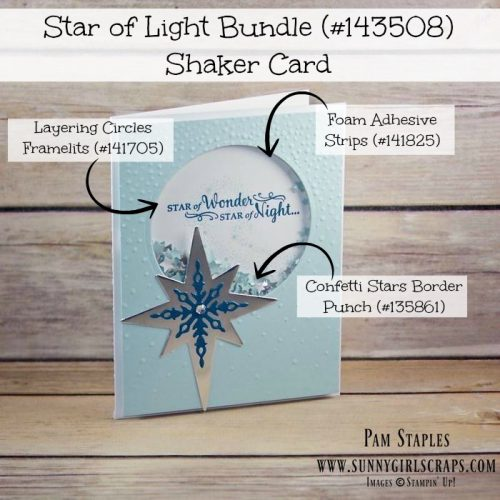 Can You Case It? Shaker Challenge 138 Design Team Submission by Pam Staples featuring the Star of Light Bundle. Visit my blog at www.sunnygirlscraps.com for more information. Play along at www.canyoucaseit.com #stampinup #pamstaples #canyoucaseit #cyci2016 #sunnygirlscraps