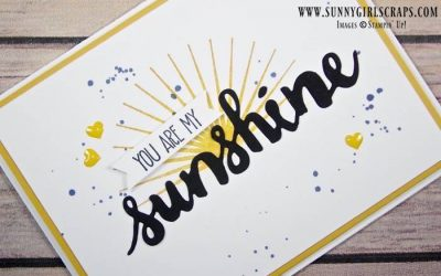 Clean and Simple Sunshine Sayings Card for SUOC157