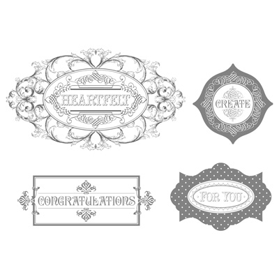 Layered Labels Stamp Set