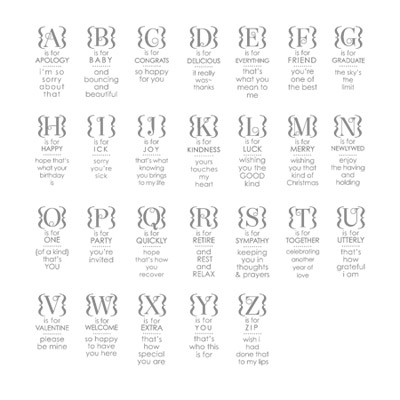 Occasions Alphabet Stamp Set