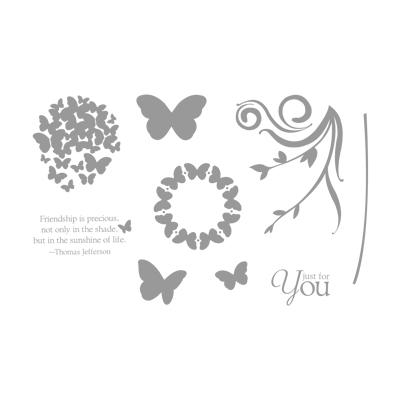 Precious Butterflies hostess stamp set
