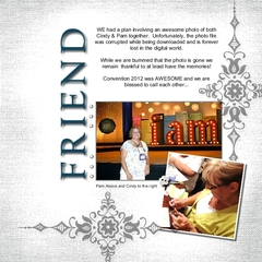 Convention 2012 Scrapbook Page